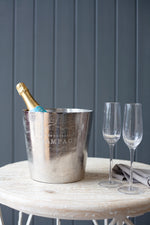 Chenay Champagne Bucket - Nickel