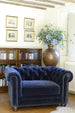 Cotswold Grey navy blue chesterfield style tub chair.