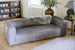 The Cotswold Grey James three seater leather sofa