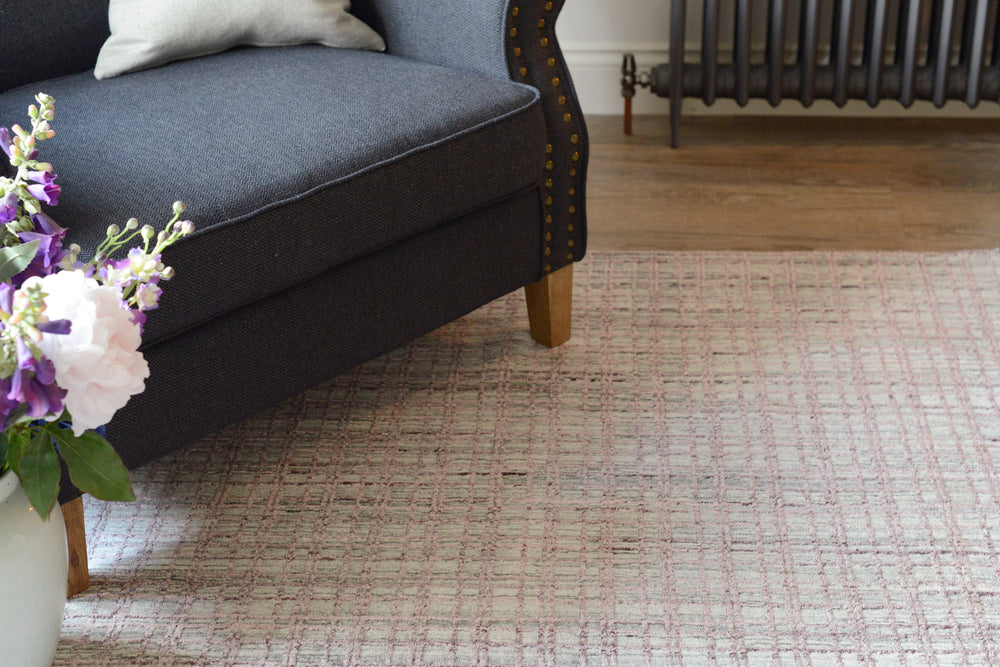 Barfly silver rug in lifestyle shot