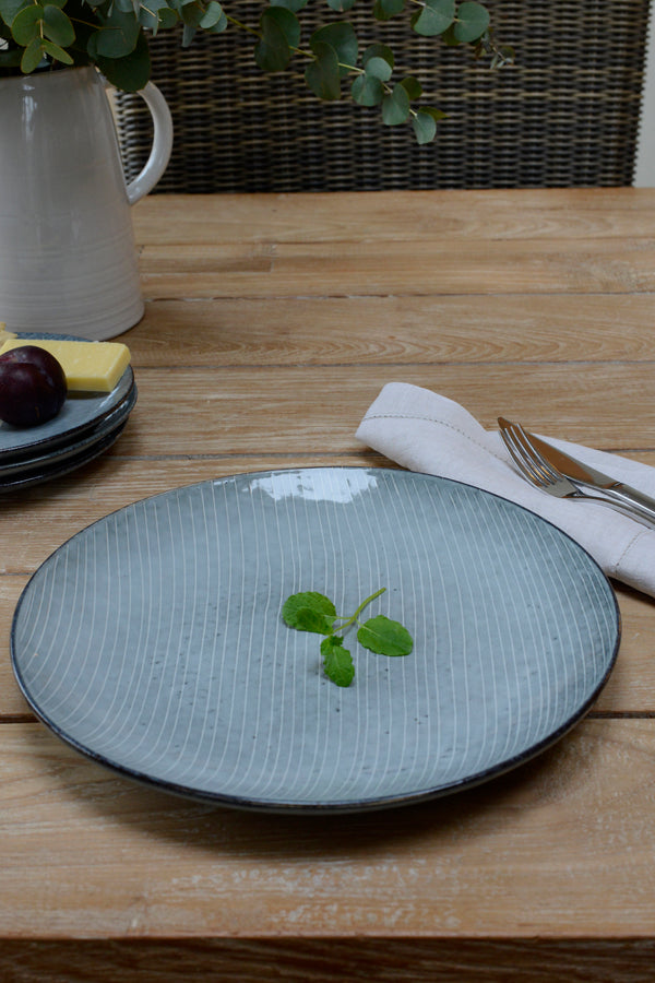 The Nordic sea blue extra large dinner plate