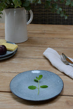 Nordic sea blue lunch / desert plate