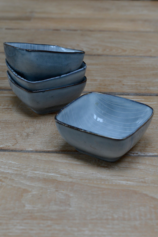 Nordic sea square bowls sat on top of each other