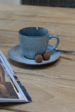 Broste Nordic Sea Cup with Saucer