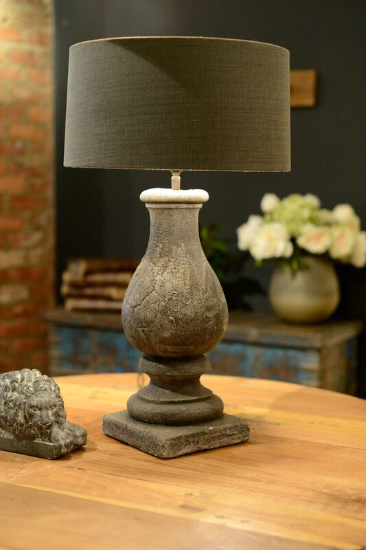 Gali Stone Table Lamp - Grey