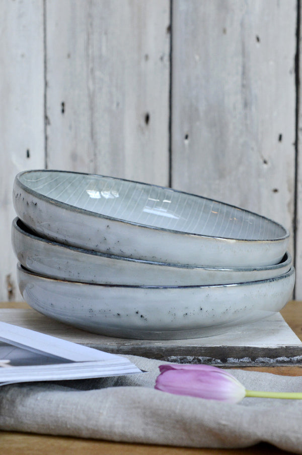 Broste Nordic Sea shallow bowl - Large