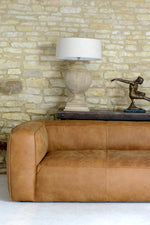 James Leather Sofa - Tan