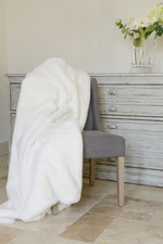 Cotswold Grey Faux Fur Polar White Throw