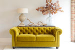 Elara 2 Seater Sofa - Velvet Gold