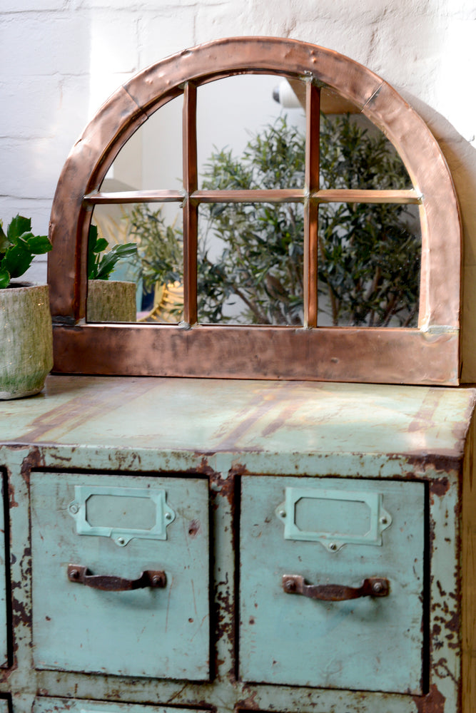 Antique Copper Window Mirror