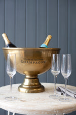 Damery Champagne Bucket - Brass