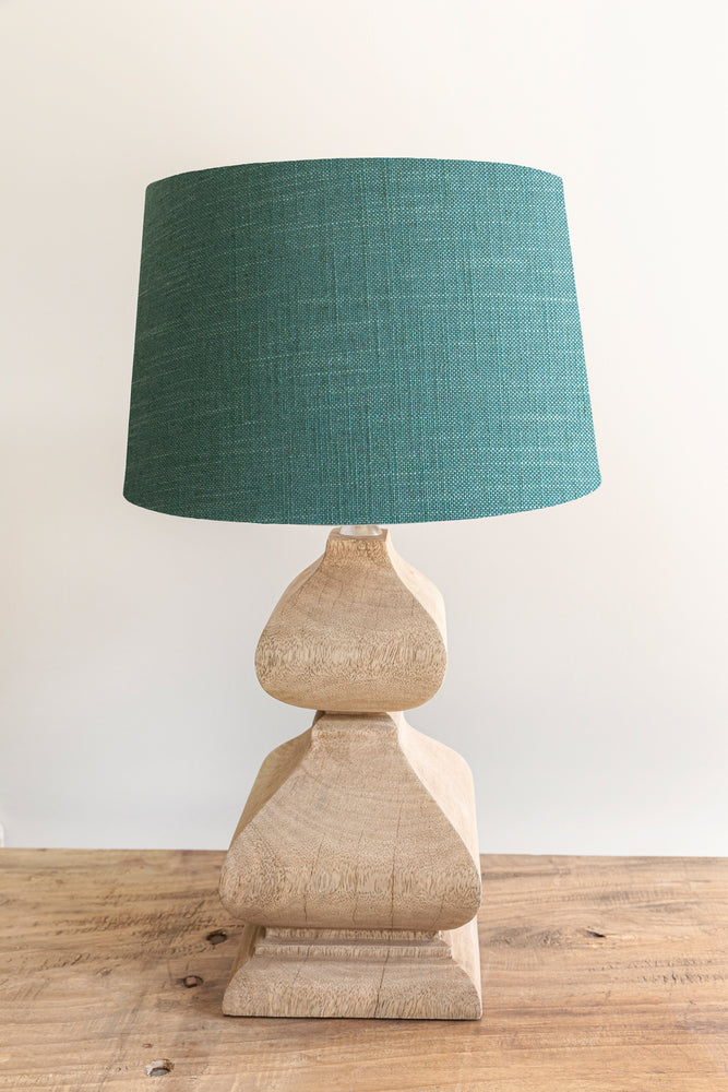 Empire Shade 25/30cm -  Aqua Linen Blend
