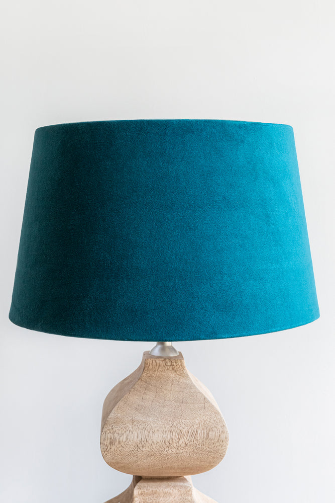 Empire Shade 25/30cm - Dark Teal Velvet