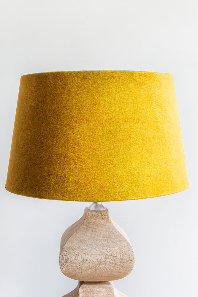 Load image into Gallery viewer, Empire Shade 25/30cm -  Turmeric Yellow Velvet