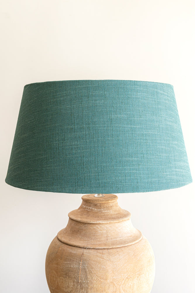 Load image into Gallery viewer, Empire Shade 40/50cm -  Aqua Linen Blend