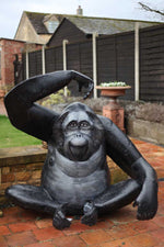 Seated Orangutan - Iron Finish