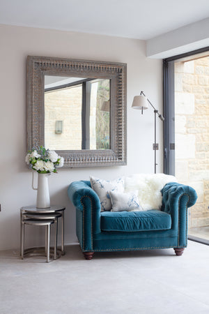 Load image into Gallery viewer, Elara Velvet Armchair - Petrol Blue