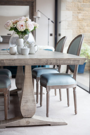 Hidcote Pedestal Herringbone Dining Table - 220cm