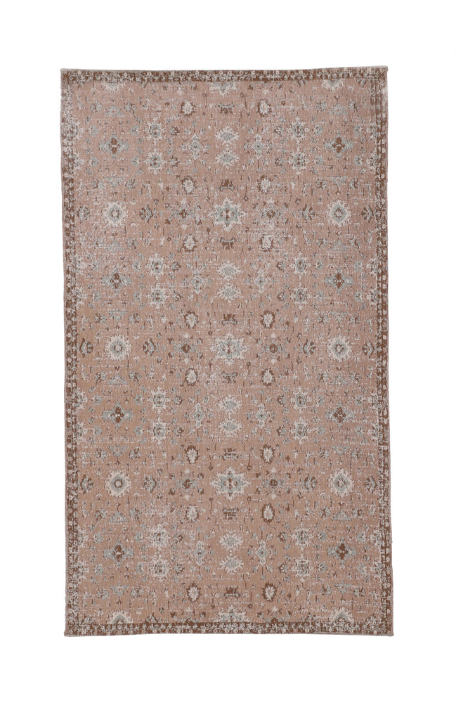 Ikat Paprica Beige Patterned Rug - (Sizes Available)