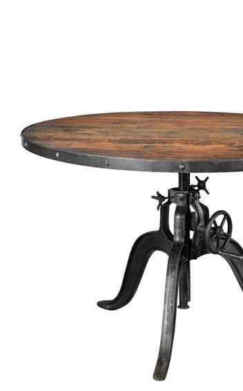 Iron and Wood Round Table - Large