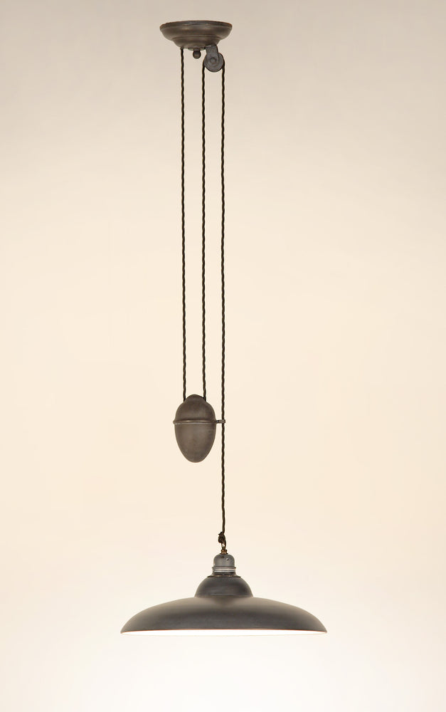 Mireta Pulley Lamp - Matt Black