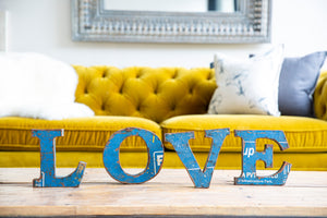 Load image into Gallery viewer, Iron Love Letters Set - Blue