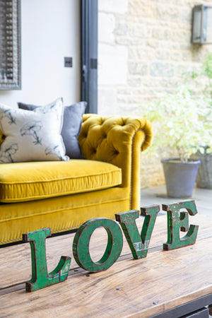 Iron Love Letters Set - Green