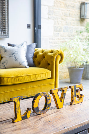 Iron Love Letters Set - Yellow