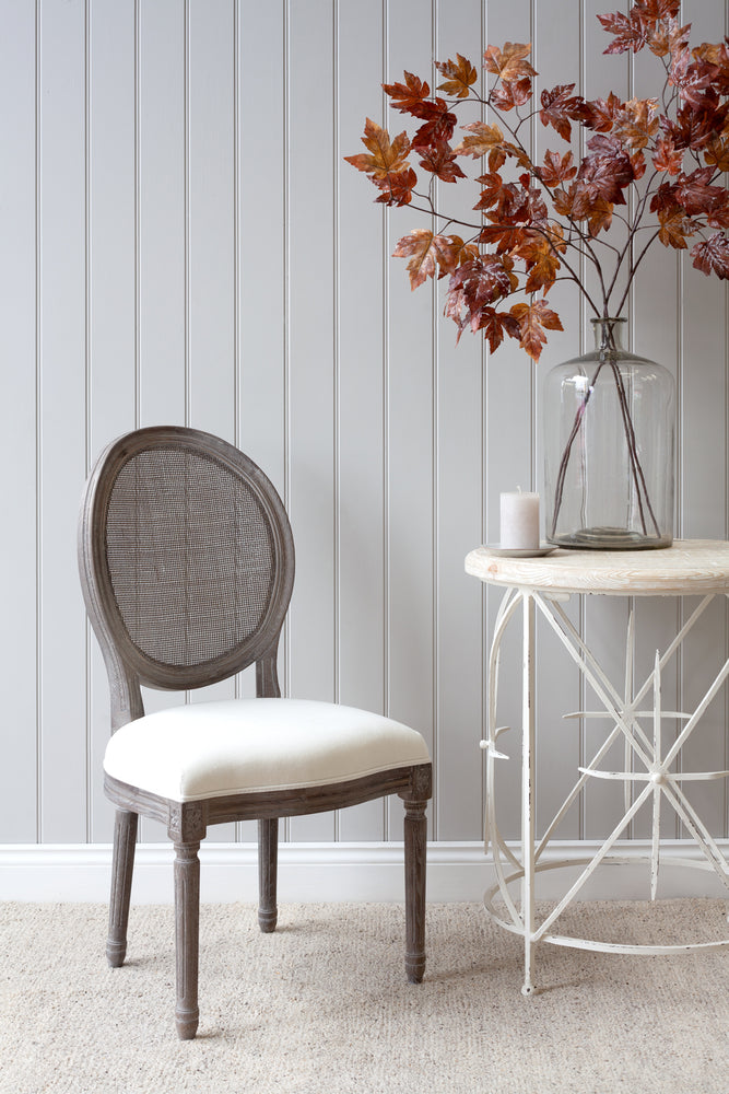 Lille Chair - Grey With White Linen