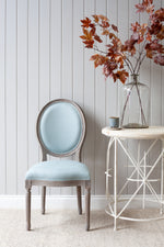 Lyon Chair - Grey With French Blue Linen