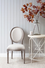 Lyon Chair - Grey With Natural Linen