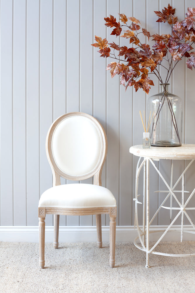 Lyon Chair - Light With White Linen