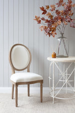 Lyon Chair - Weathered With White Linen
