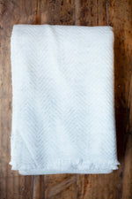 Cashmere Throw - Mist Chevron