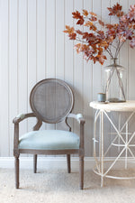 Montpellier Chair - Grey With French Blue Linen