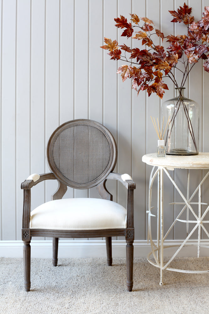 Montpellier Chair - Grey With White Linen