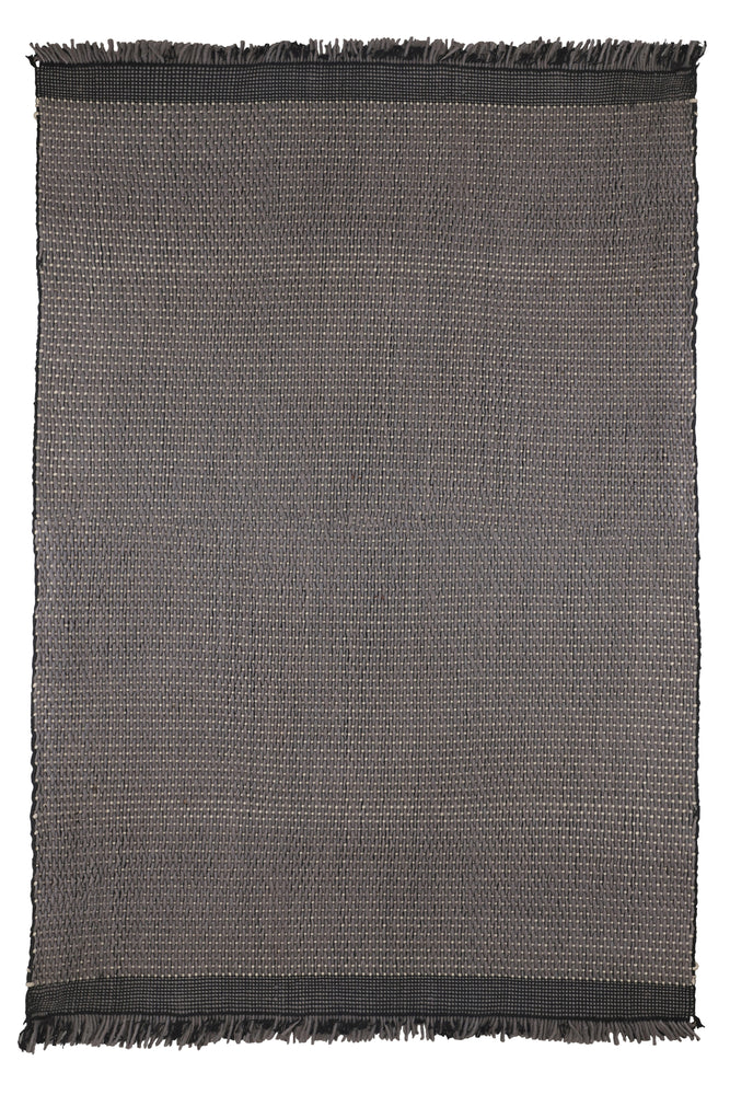 Bikaner Grey Border Rug With Tassels