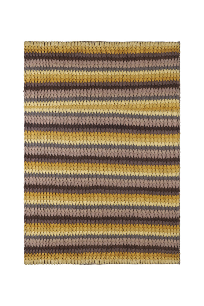 Sonia Yellow & Brown Knitted Rug