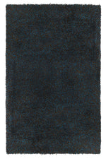 Milan Chocolate and Navy Blue Rug (Sizes Available)