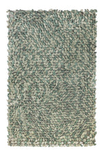 Tulip Textured Ivory and Sea Green Rug