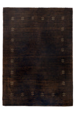 Norah Chocolate & Gold Border Patterned Rug