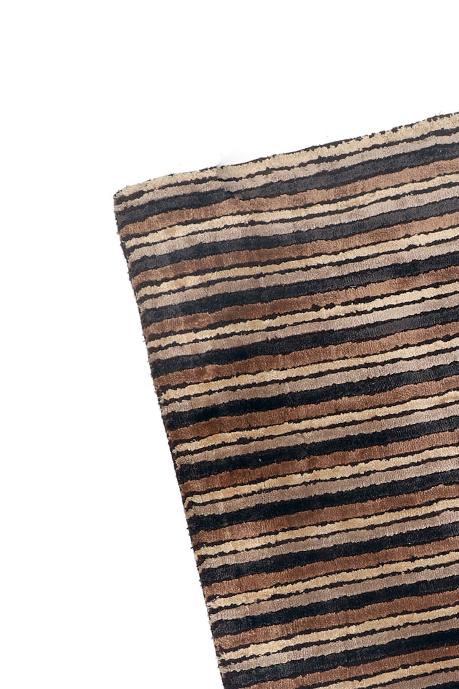 Load image into Gallery viewer, Elise Brown Striped Rug