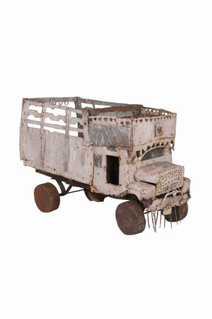 Load image into Gallery viewer, Iron & Wood Truck Ornament