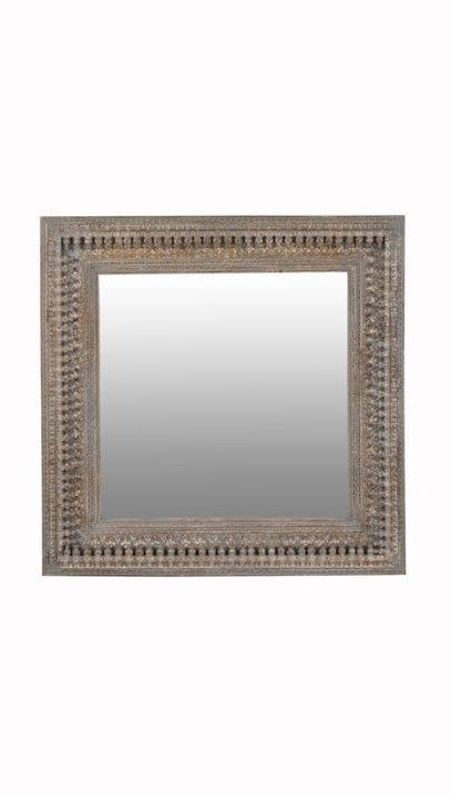 Jali Square Carved Mirror - 130cm