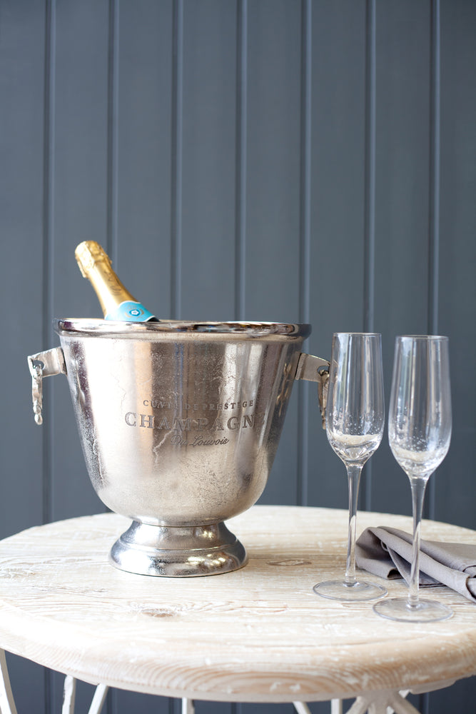 Reims Champagne Bucket - Nickel