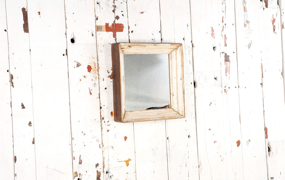 Small Square Wooden Mirror Frame