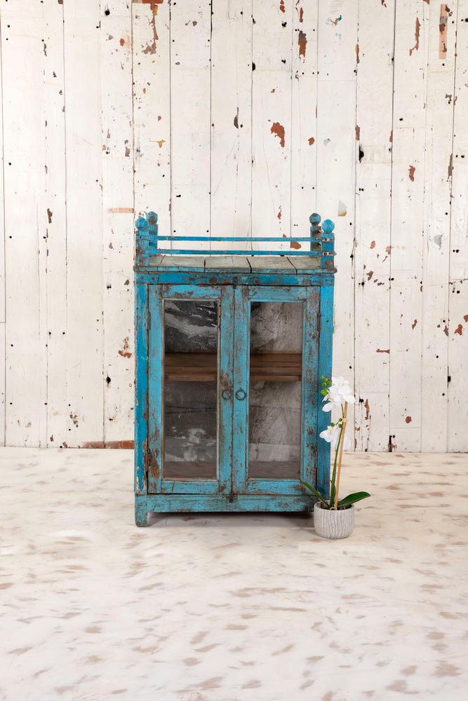 Blue Cabinet with Railings