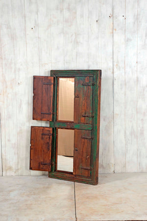 Wooden Window Mirror - Large No 123