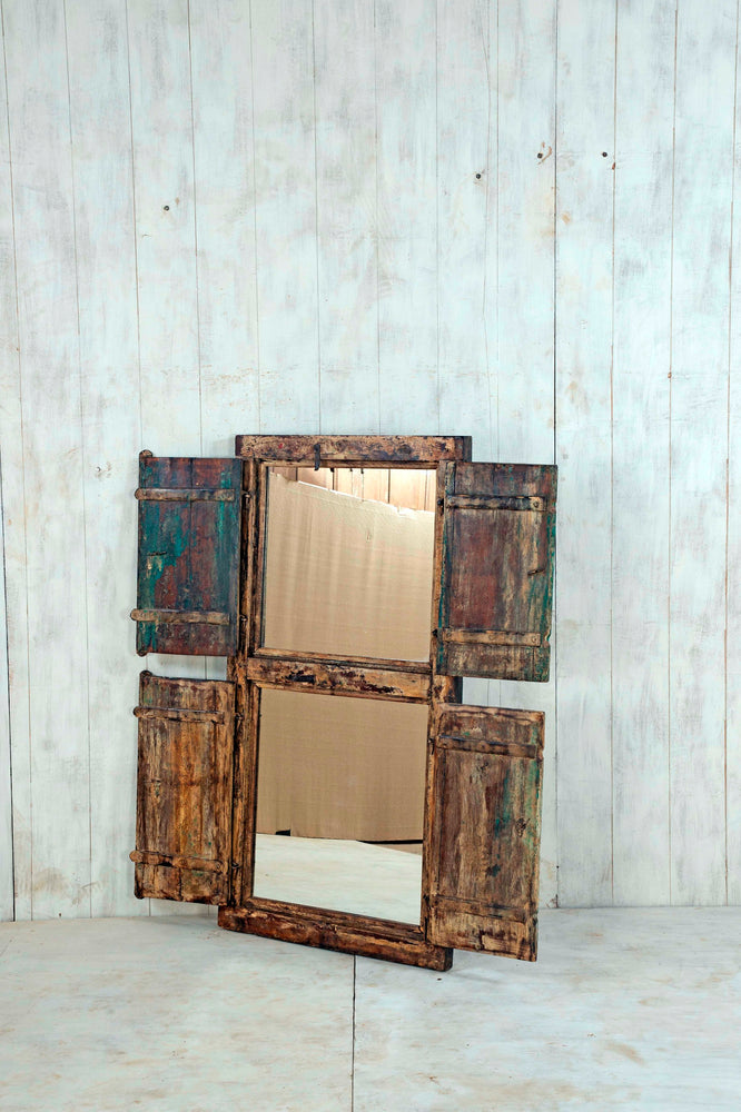 Load image into Gallery viewer, Wooden Window Mirror - Large No 147