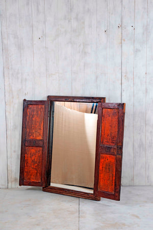 Wooden Window Mirror - Large No 149